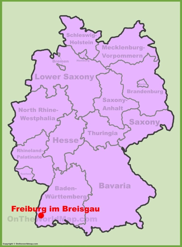 Freiburg Maps | Germany | Maps Of Freiburg Im Breisgau with regard to Map Of Germany Showing Freiburg