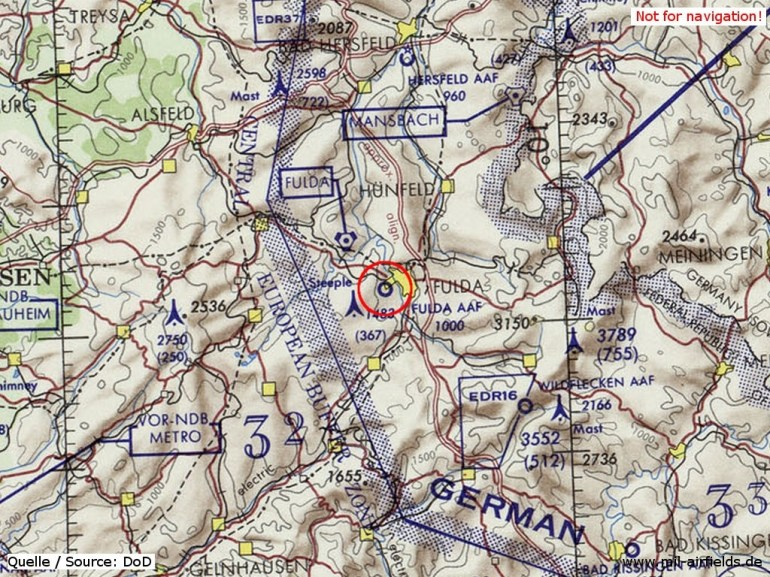 Fulda Army Airfield | Military Airfield Directory with Fulda Gap Germany Map