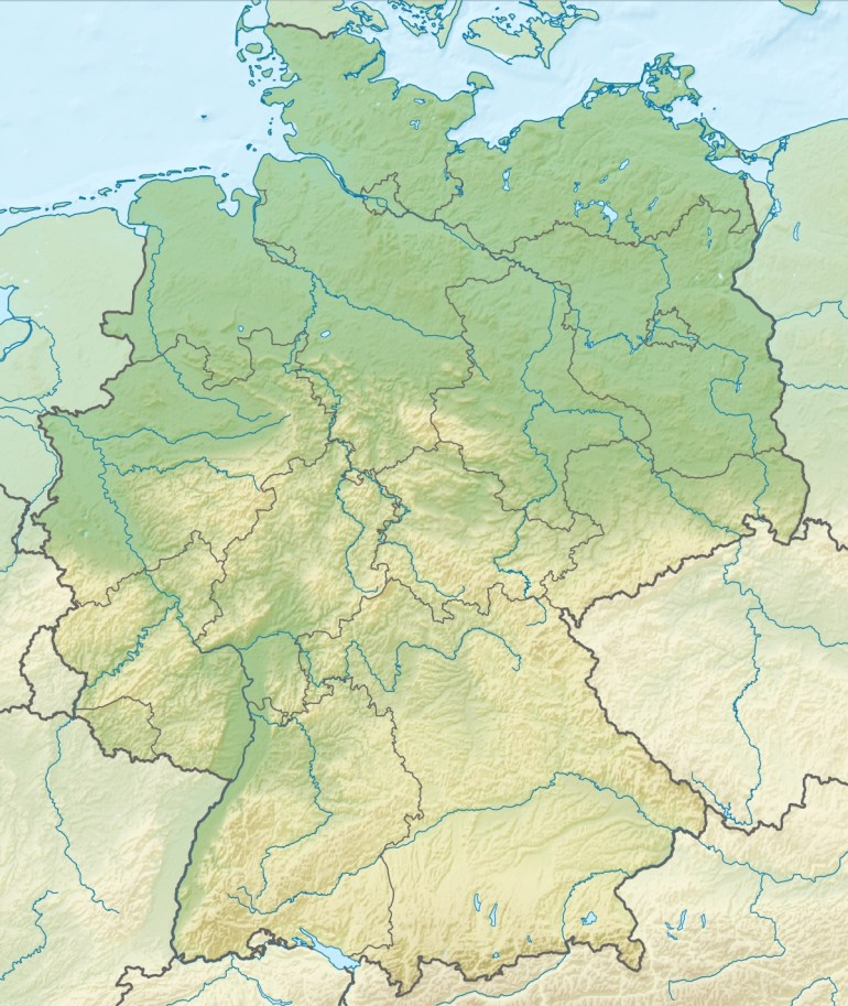 Geography Of Germany - Wikipedia throughout Germany On World Map Physical