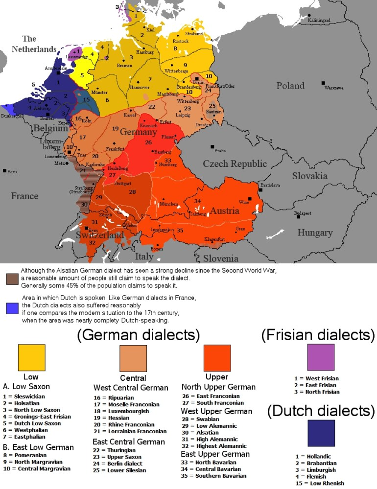 German Dialects - Wikipedia for Germany No Go Zones Map