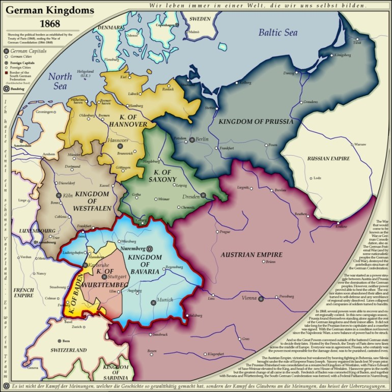 German Kingdoms 1868Whanzel | Genealogy | Map, Historical Maps pertaining to German Maps And Facts For Genealogy