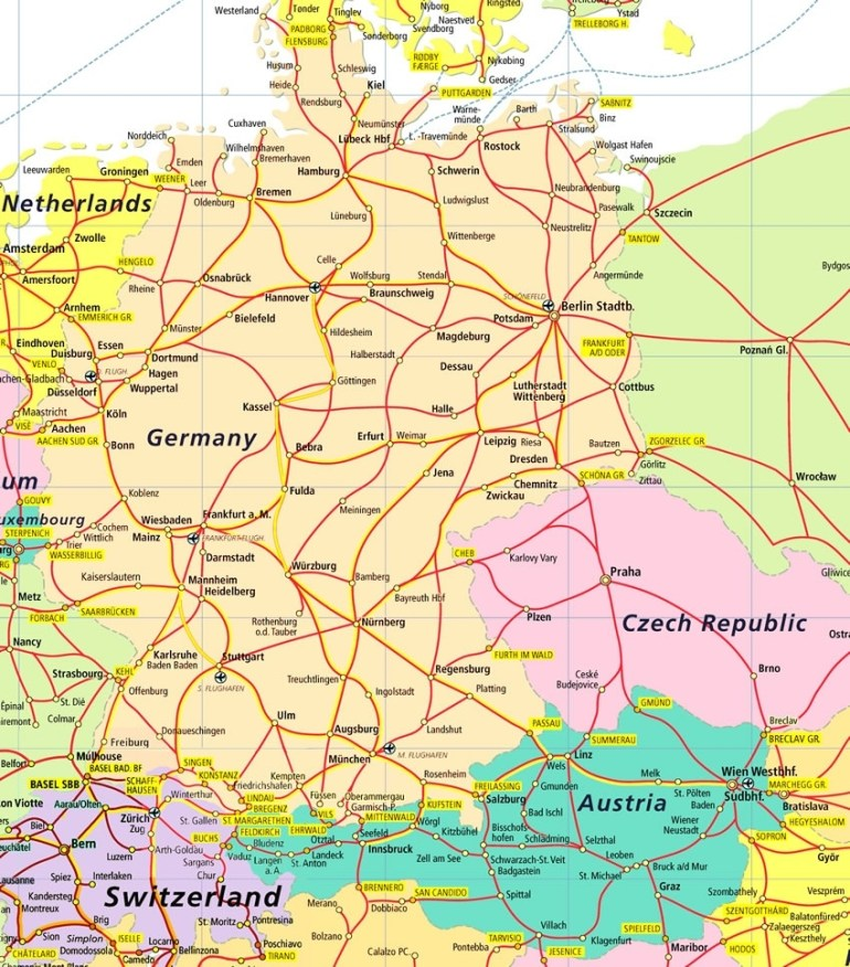 German Road Map And Travel Information | Download Free German Road Map inside German Road Maps Free