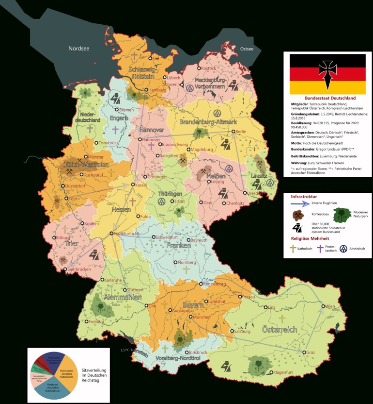 German State Union 2056Iasonkeltenkreuzler | Fantasy | Map pertaining to German Maps And Facts For Genealogy