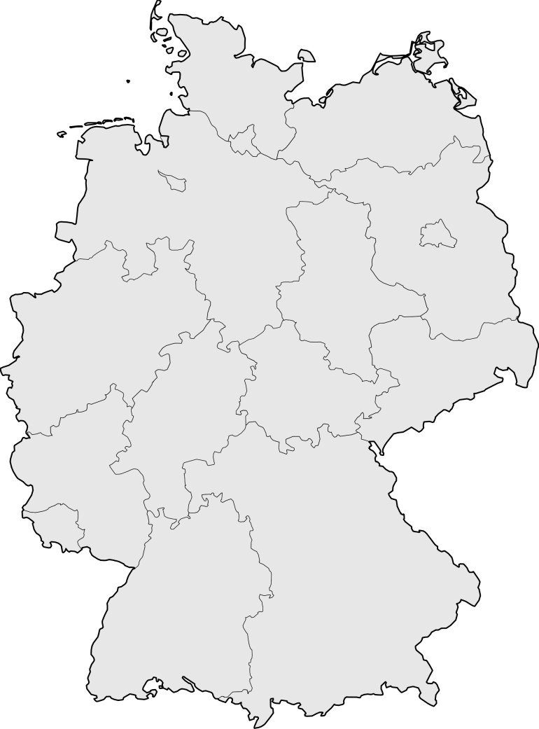 Germany Blank Map • Mapsof inside Blank Map Of Germany With States