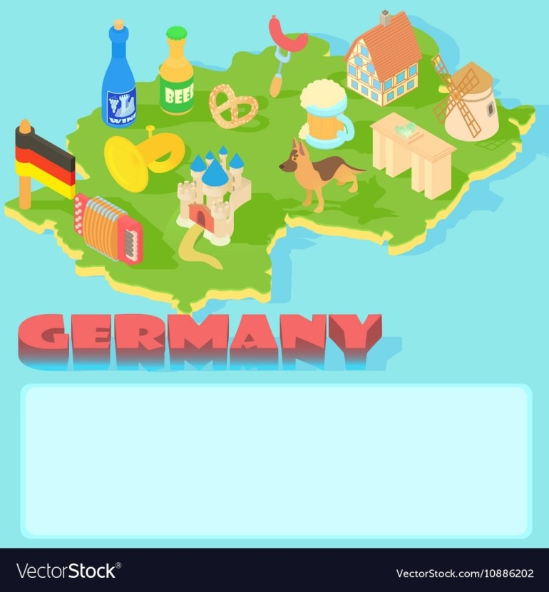 Germany Map Cartoon Style with regard to Cartoon Map Of Germany