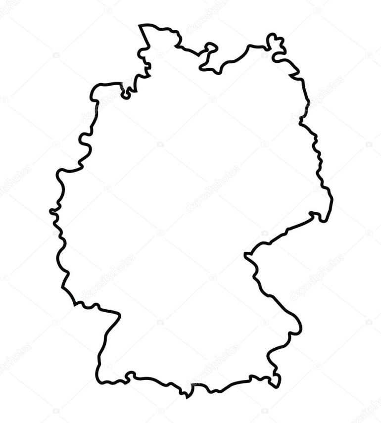 Germany Map Drawing At Paintingvalley | Explore Collection Of for Germany Map Vector Free Download