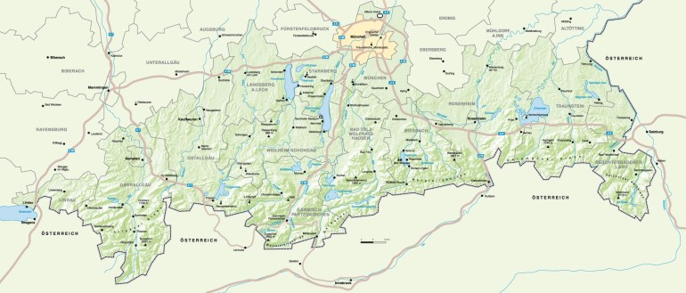Germany Mapa: Bavaria Germany Map, Germany Road Map, Germany Map within Bavarian Alps Germany Map
