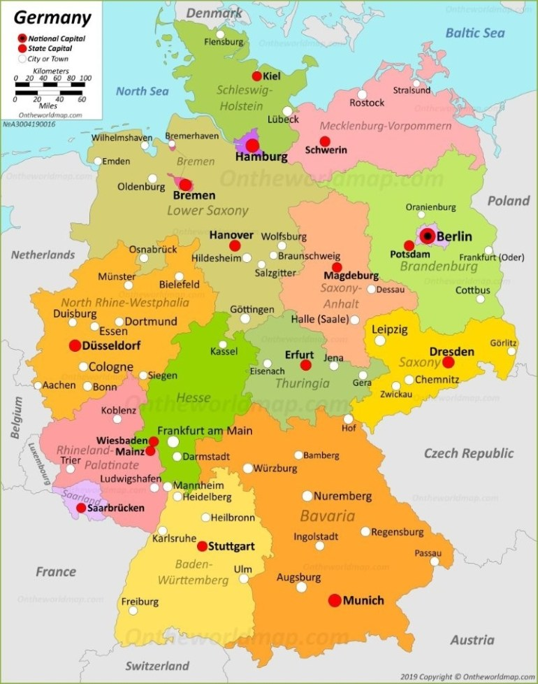 Germany Maps | Maps Of Germany regarding Germany Outline Map With Cities