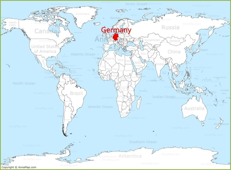 Germany On The World Map With 1 - World Wide Maps for Location Of Germany In World Map