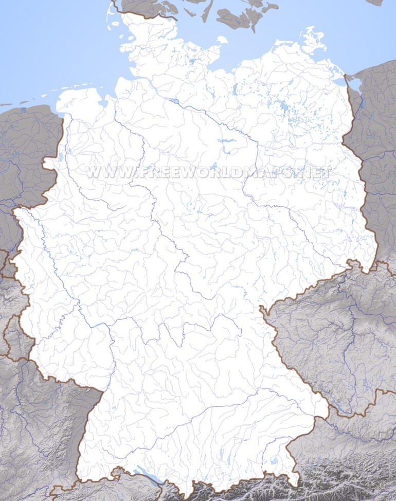 Germany Physical Map within Germany On World Map Physical