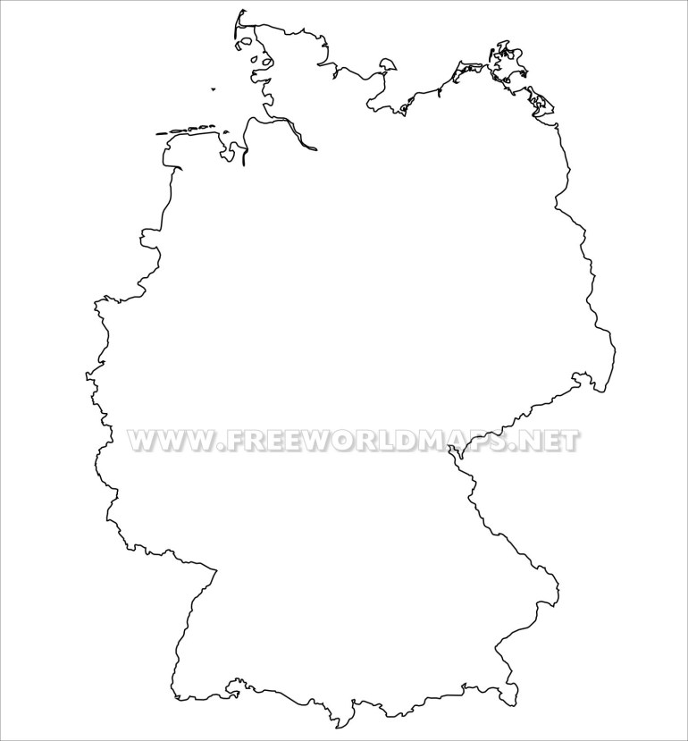 Germany Political Map for Germany Map Outline Blank