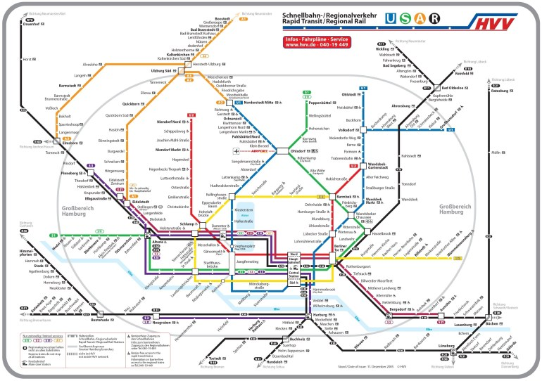 Hamburg Bahn Map - Print As Poster | Rainy Day Activities. In 2019 in Metro Map Hamburg Germany