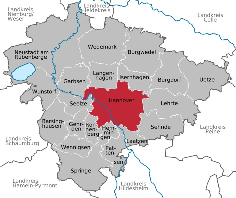 Hanover - Wikipedia within Hannover Germany Airport Map