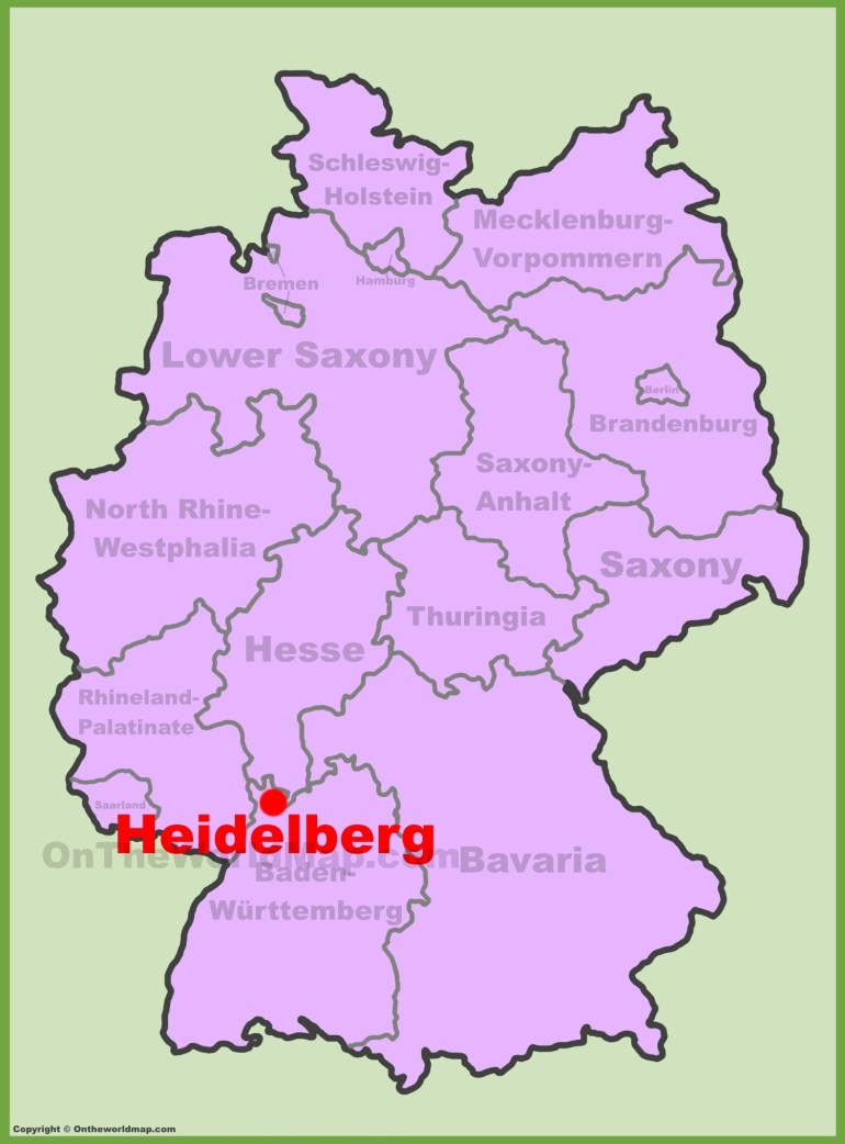 Heidelberg Maps | Germany | Maps Of Heidelberg with regard to City Map Of Heidelberg Germany
