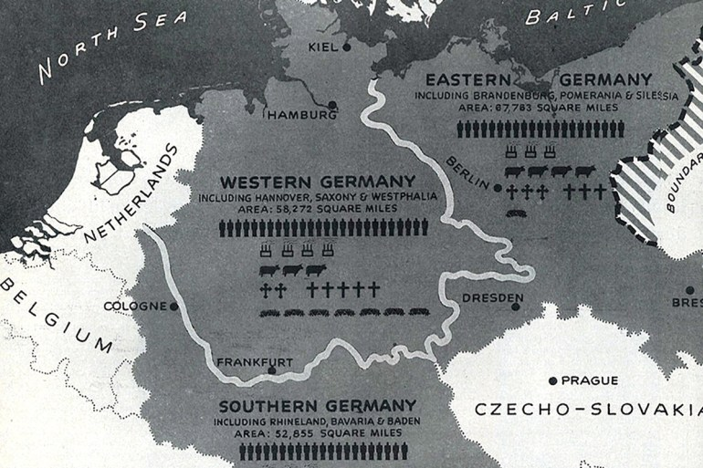 How Germany Was Divided: A History Of Partition Plans – Atlantic with Germany Divided After Ww2 Map