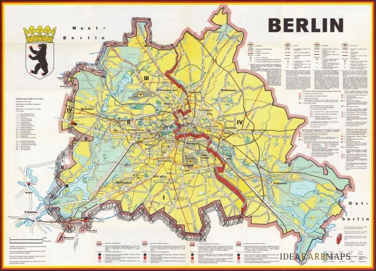 """Idea Rare Maps On Twitter: """"a 1962 #map Of #berlin Published Shortly throughout Map Of East Germany Before 1989"""