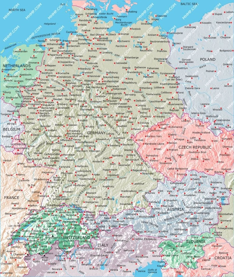 Image Result For Map Switzerland Germany Austria | Destinations with regard to Map Of Germany And Austria