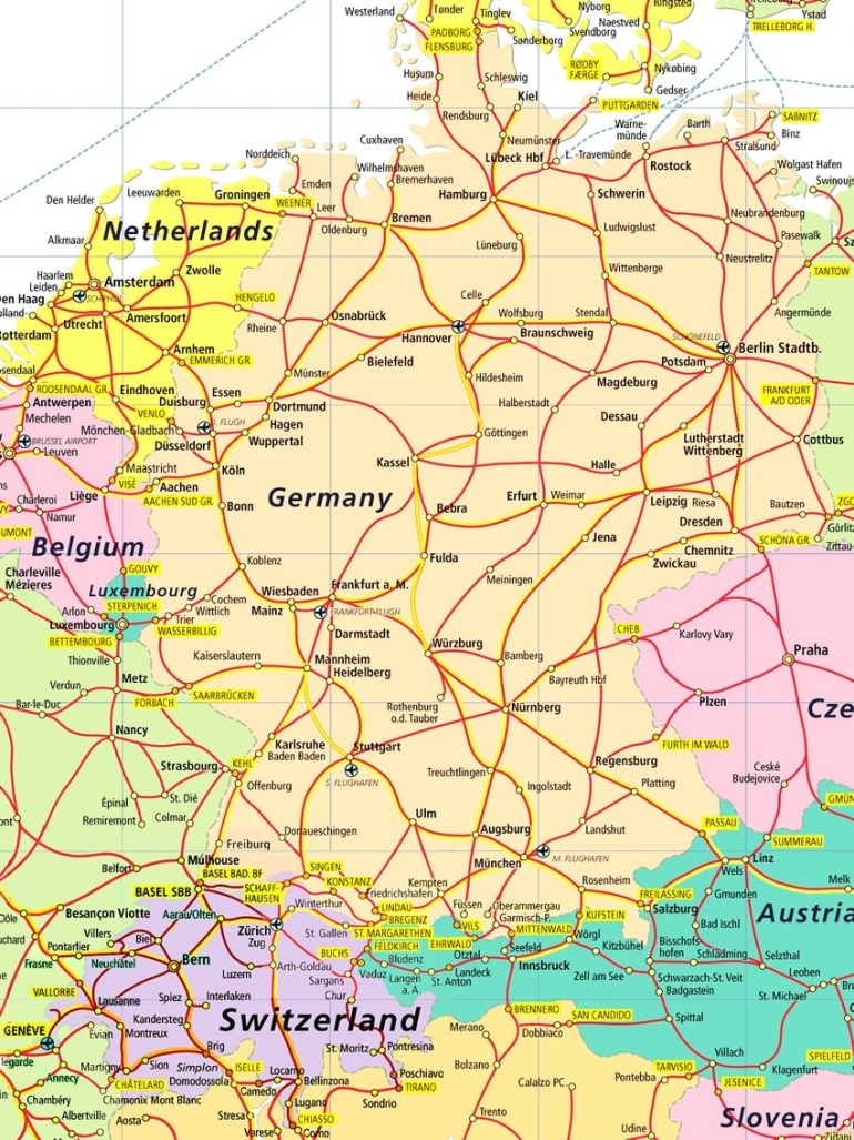 Index Of /images/rail pertaining to Map Of France Germany And Switzerland