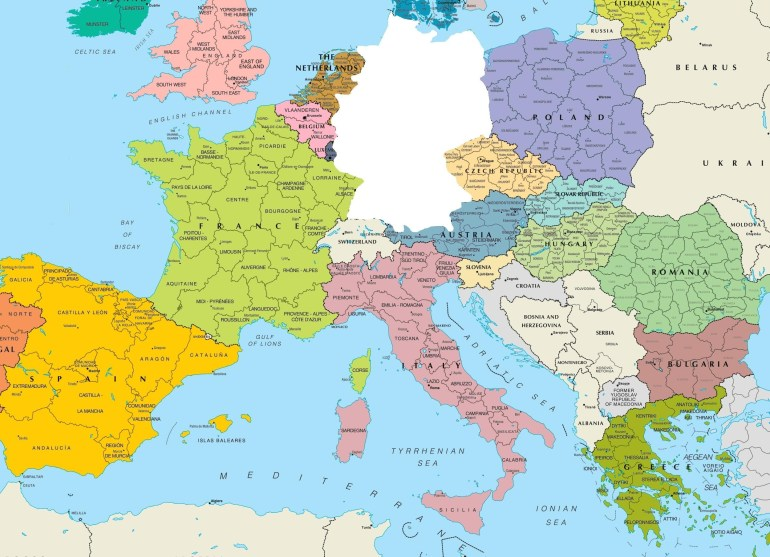 K9Cev2O Germany Map Europe 1 - World Wide Maps intended for Germany In Map Of Europe
