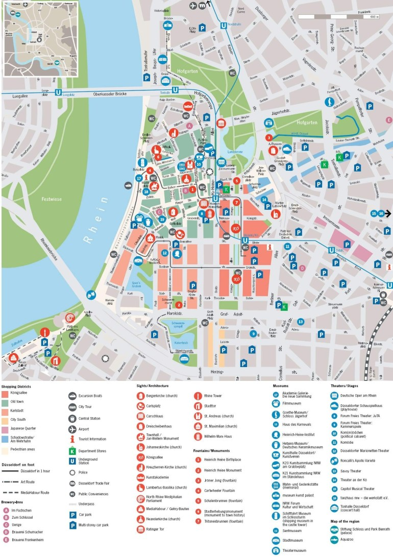 Large Dusseldorf Maps For Free Download And Print | High-Resolution in Dusseldorf Location Germany Map