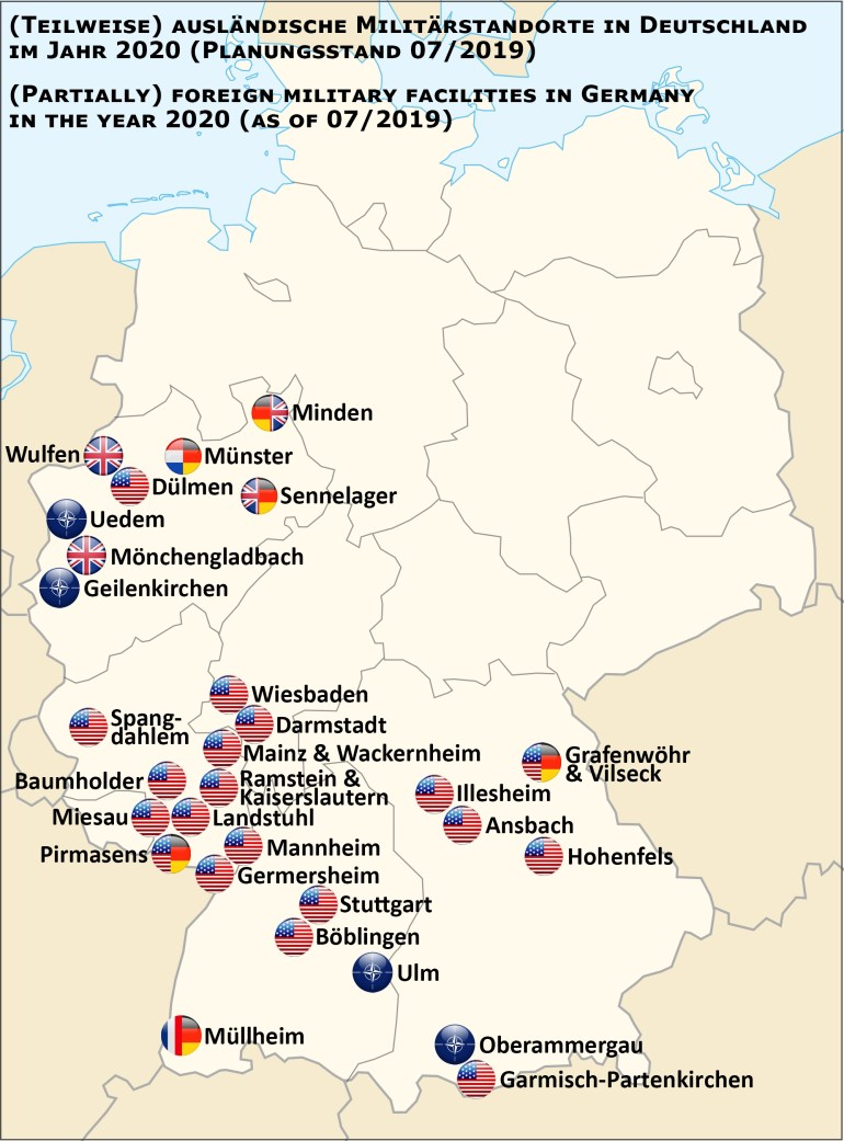 List Of United States Army Installations In Germany - Wikiwand pertaining to Army Bases In Germany Map