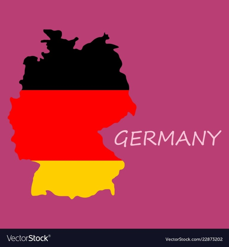 Map And Flag Of Germany Vector Image On Vectorstock intended for Germany Map And Flag