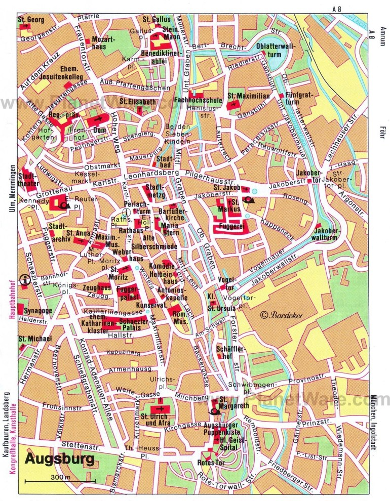 Map Of Augsburg Attractions | Planetware | Travel In 2019 | Augsburg inside Augsburg Germany Map