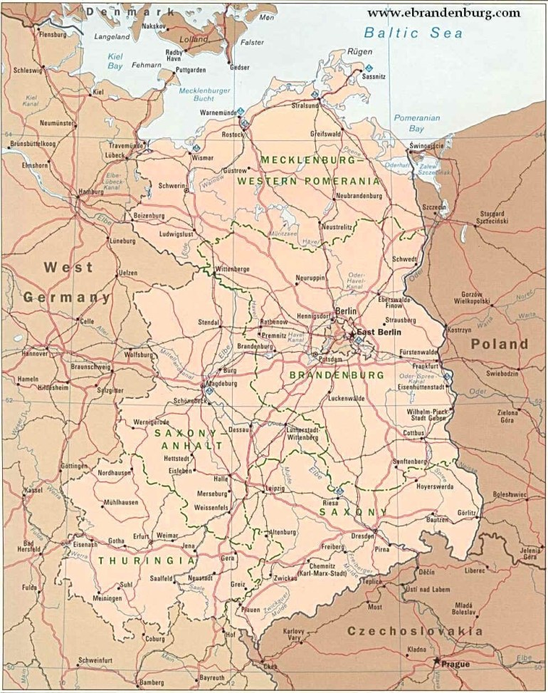 Map Of East Germany - Hoangduong with regard to Map Of East Germany 1970