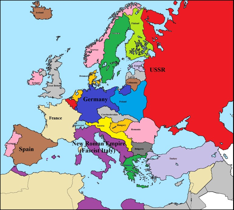 Map Of Europe Before The Alternative World War 2 (1940) : Imaginarymaps intended for Germany Map Before World War 2