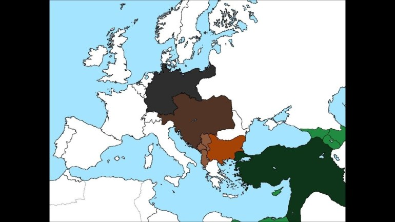 Map Of Europe If The Central Powers Won World War I for Map Of Europe If Germany Won Ww2