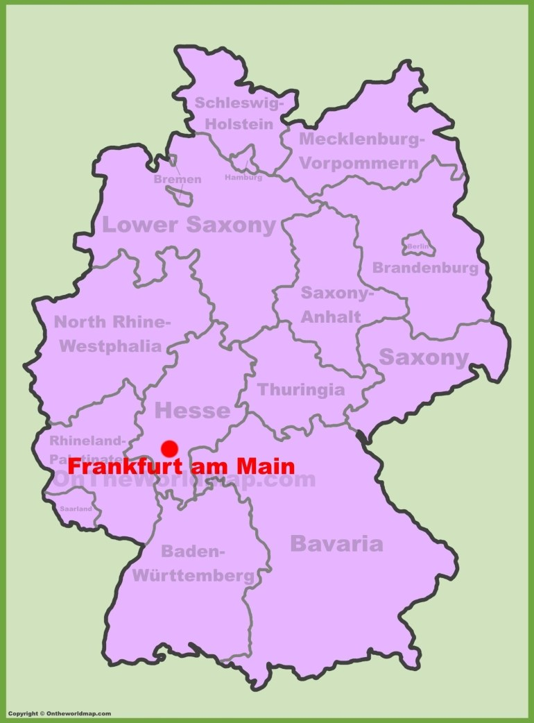 Map Of Frankfurt - Frankfurt Downtown Map (Hesse - Germany) for Frankfurt Hesse Germany Map