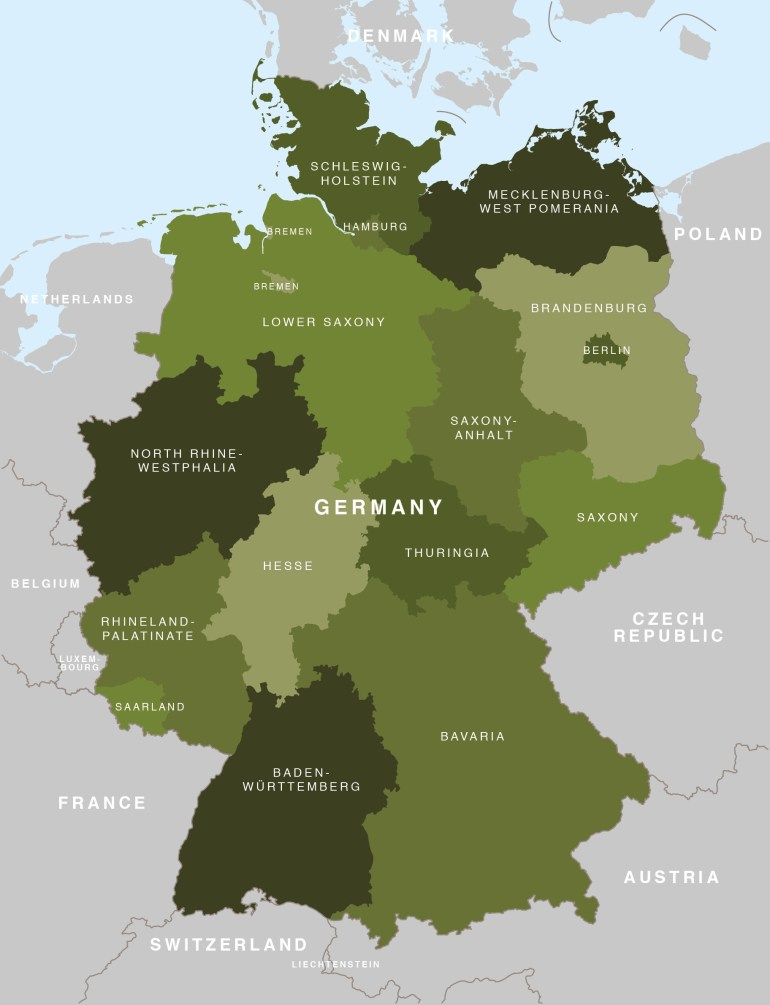 Map Of Germany - German States / Bundesländer - Maproom with regard to Map Of Germany And Its States