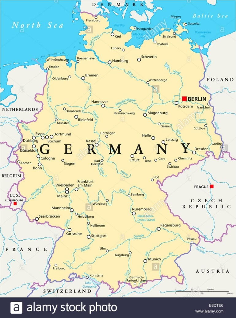 Map Of Germany Printable And Travel Information | Download Free Map within Germany Outline Map With Cities