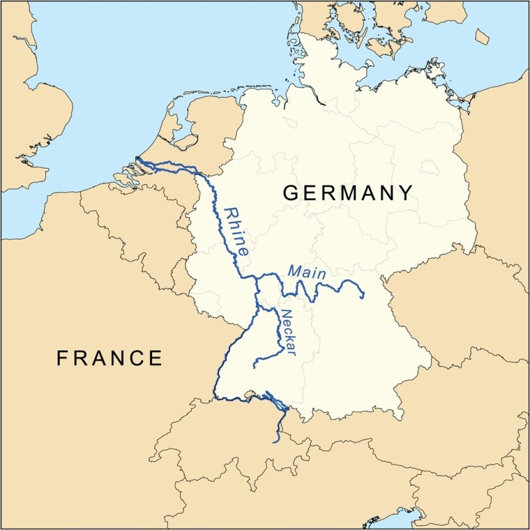 Map Of Germany Rivers | D1Softball for German Rivers Map
