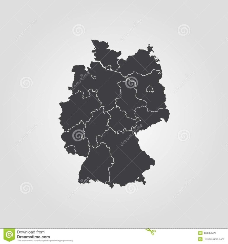 Map Of Germany Stock Illustration. Illustration Of European - 103358725 inside Germany Map Vector Free Download