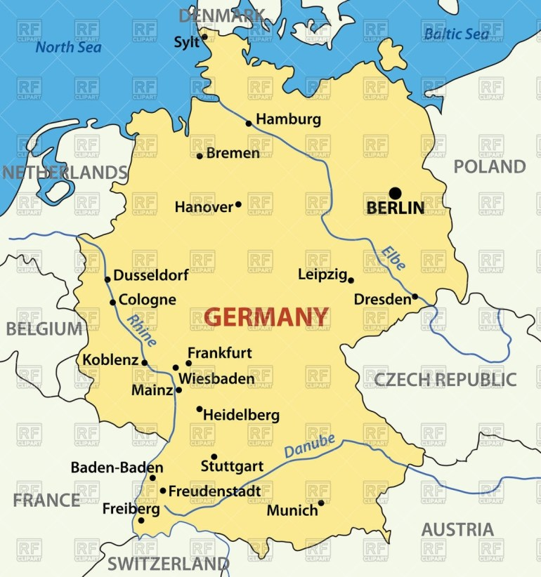 Map Of Germany Stock Vector Image for Free Map Of Germany