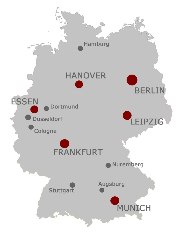 Map Of Germany With Cities | Major Cities In Germany Hosting for Map Of Germany With Major Cities