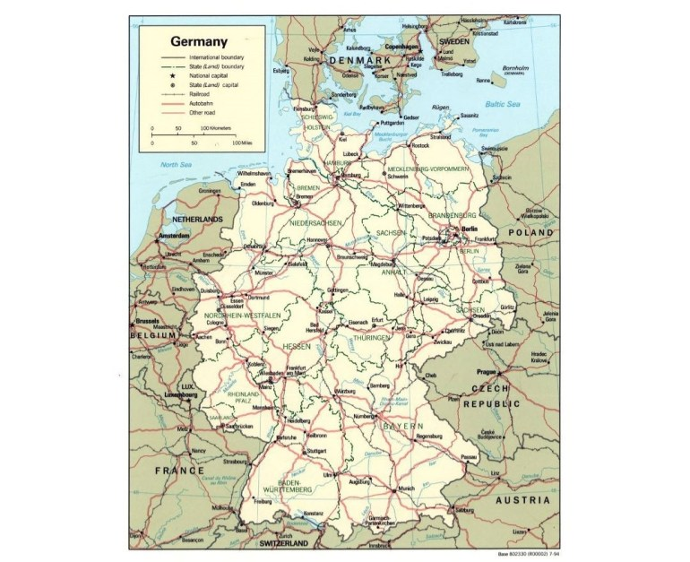 Maps Of Germany | Collection Of Maps Of Germany | Europe | Mapsland with regard to East Germany Map Cities