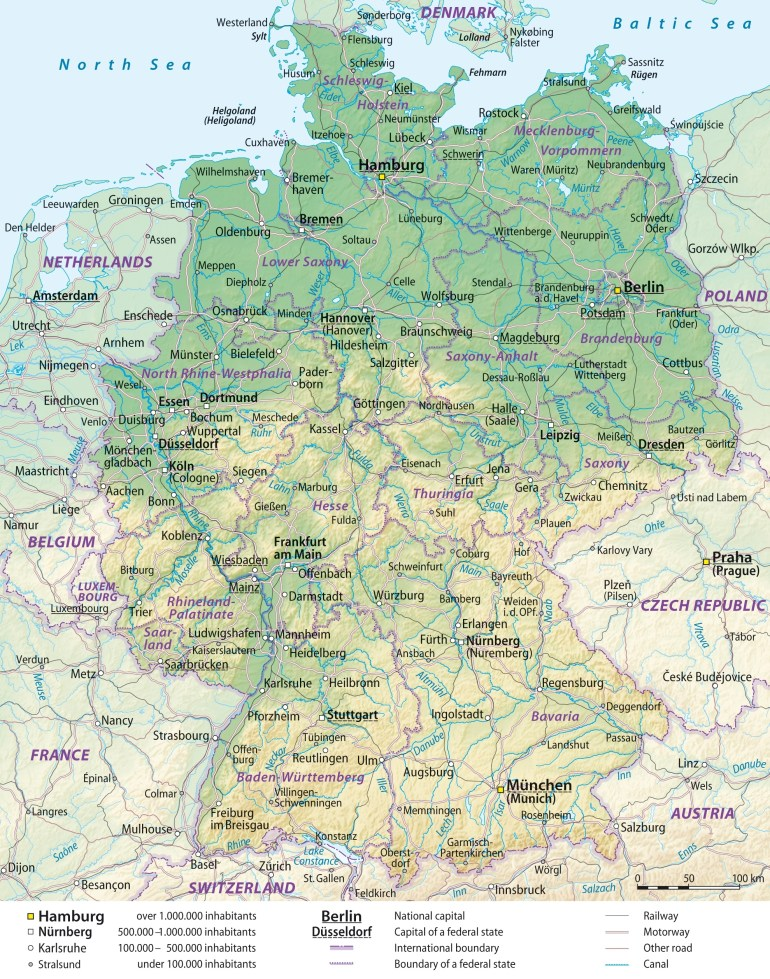 Maps Of Germany | Detailed Map Of Germany In English | Tourist Map inside Printable Map Of Germany And Surrounding Countries