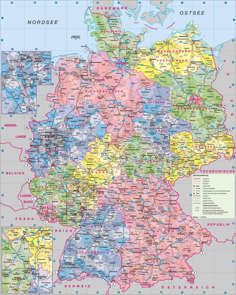 Maps Of Germany | Detailed Map Of Germany In English | Tourist Map intended for Map Of Germany With Cities In English