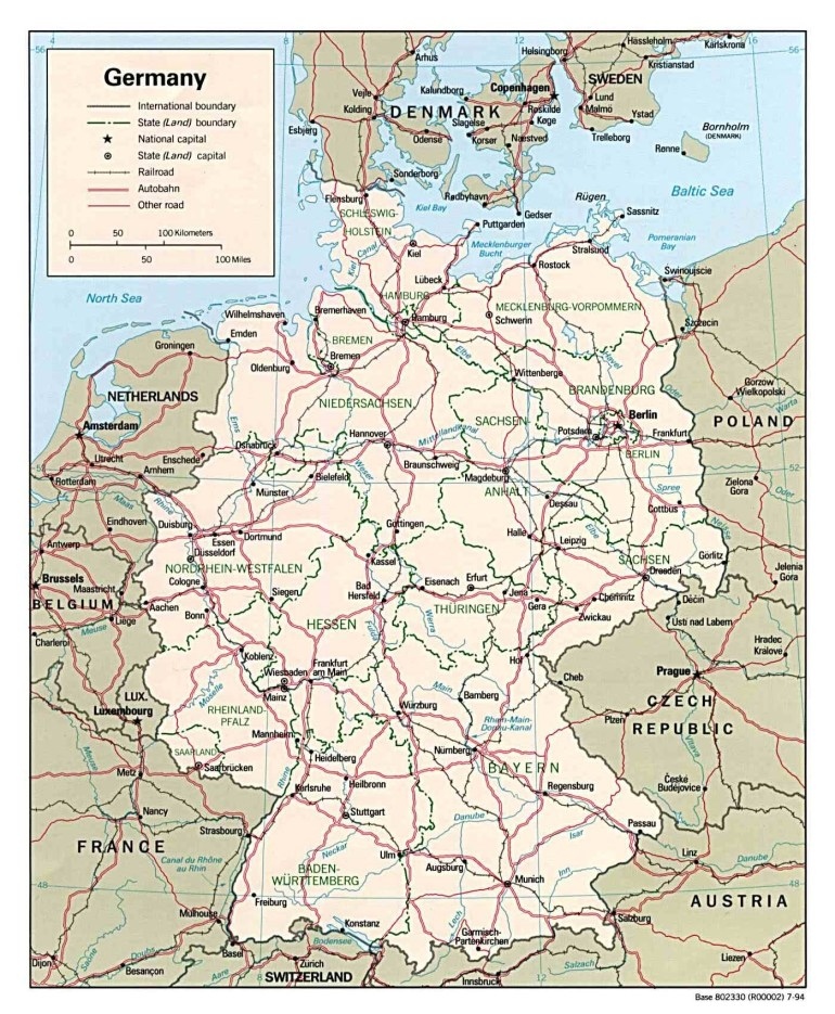 Maps Of Germany | Detailed Map Of Germany In English | Tourist Map regarding Detailed Map Of Germany And Austria