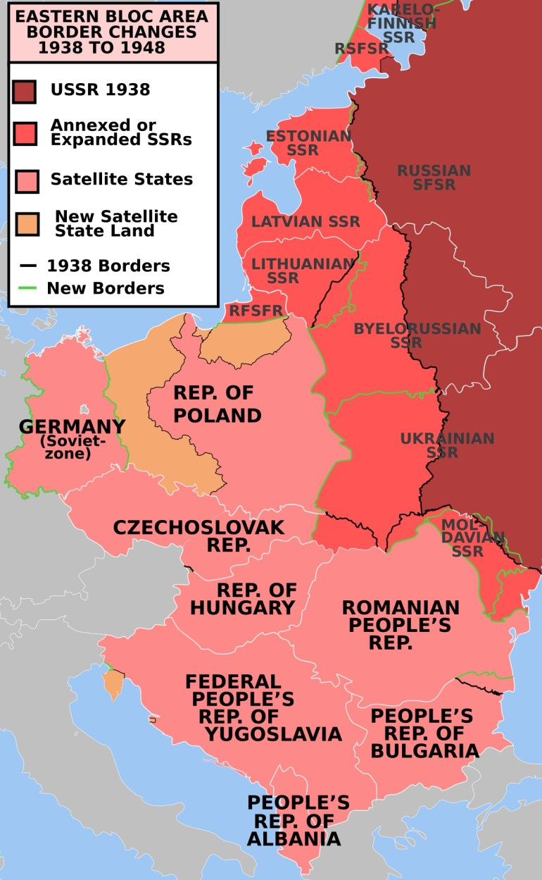 Military Occupationsthe Soviet Union - Wikipedia throughout East Germany Map Cold War