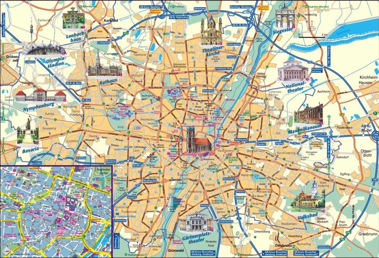 Munich Attractions Map Pdf - Free Printable Tourist Map Munich with regard to Munich Germany Map Attractions