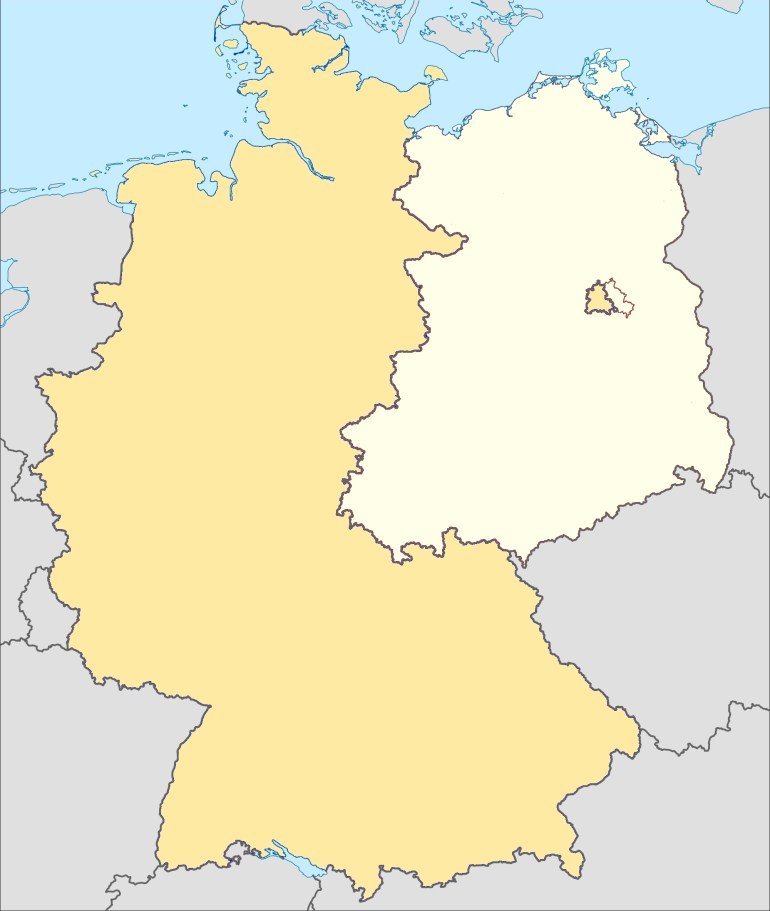 Museums Of The Inner German Border - Wikipedia with East Germany Map Cold War