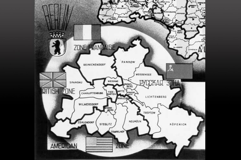 Nato - Declassified: The Berlin Blockade, 24-Jun.-1948 regarding Map Of Divided Germany And Berlin
