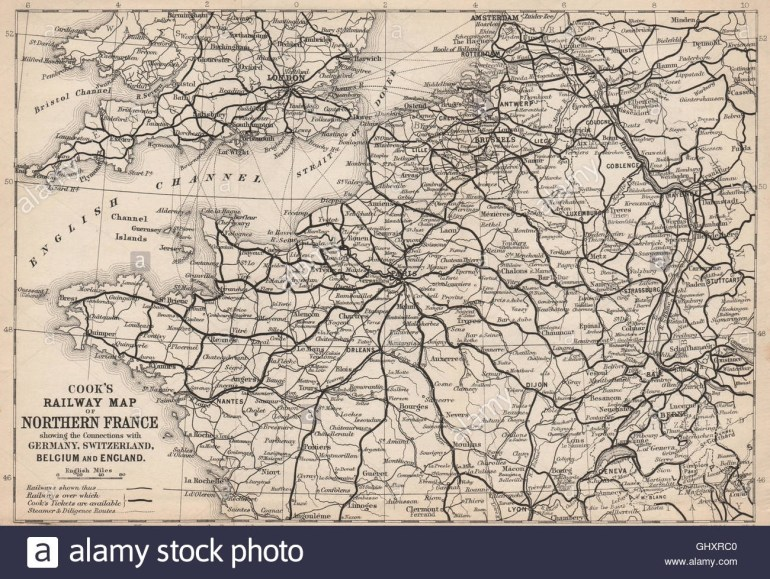 Nw Europe Railways:france Germany Switzerland Belgium Stock Photo within France Germany Switzerland Map