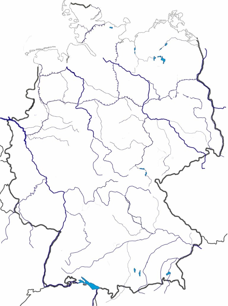 Outline Map Of Germany And Travel Information | Download Free with Outline Map Of Germany Printable
