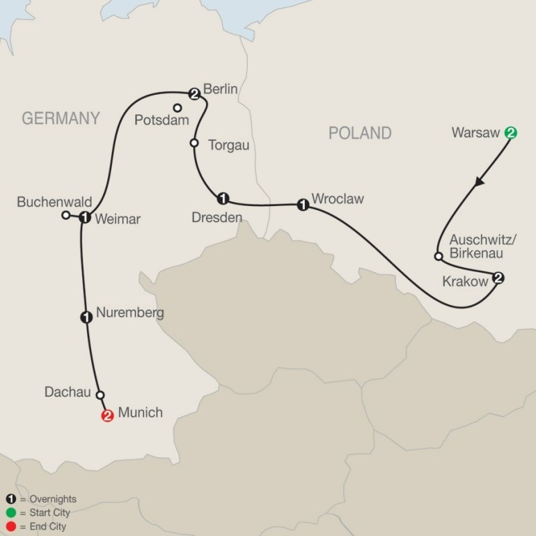 Poland, East Germany & World War Ii regarding Map Of Concentration Camps In Germany To Visit