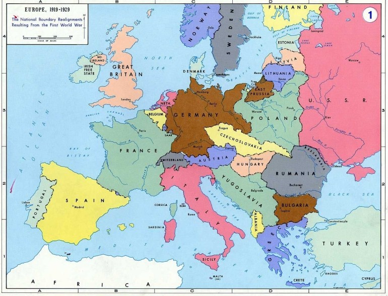 Pre- World War Ii: Here Are The Boundaries As A Result Of The First throughout Map Of Germany After World War Ii