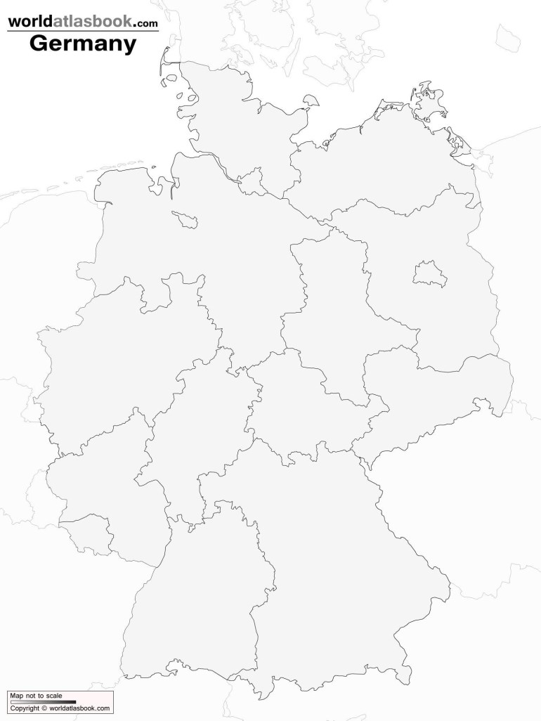 Printable Germany Map And Travel Information | Download Free throughout Outline Map Of Germany Printable